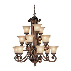 Dolan Designs Carlyle 3 Tier Chandelier Canyon Clay