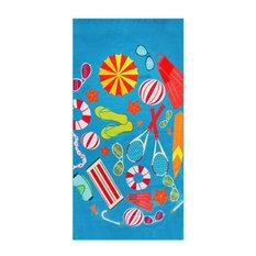 Outdoor Mat Towel, SunSet Beach Towel, Picnic Blanket, Beach Mat Blanket