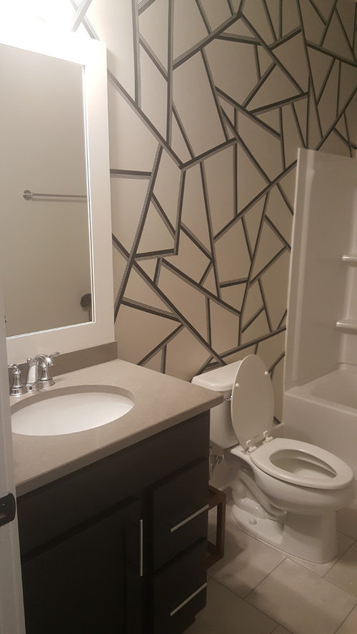 What SHOWER CURTAIN WALL ART GREAT Feature Wall But Need Help