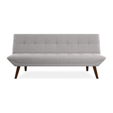 Convertible Sofa, Wooden Legs and Tufted Rich Linen Upholstery, Comfortable, Lig