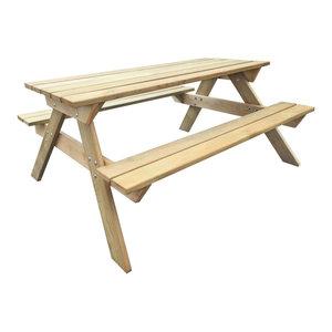 vidaXL Wooden Picnic Table, 150x135x72 cm