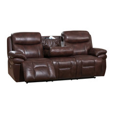 AMAX LEATHER - Summerlands II Power Headrest Leather Reclining Sofa Brown - Sofas  sc 1 st  Houzz & Natuzzi Leather Reclining Sofas | Houzz islam-shia.org