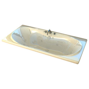 Venzi Bello 42 x 72 Rectangular Soaking Bathtub with Center Drain By Atlantis