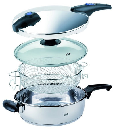 Modern Pressure Cookers Blue Point Pressure Pan Set by Fissler