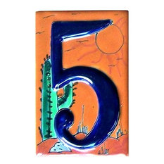 Desert Talavera Ceramic House Number Five