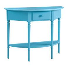 Leick Coastal Notions Console Table With Shelf, Regatta Blue