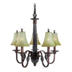 """Woodbridge Lighting 15031-BRK Vergennes 5 Light 26"""" Wide Single Tier Chandelier"""
