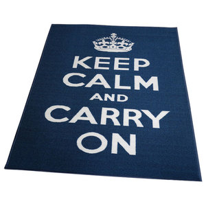 Carry On Rug, Blue and White, 100x160 cm