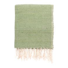 Handwoven Cotton Table Cloth/Throw, Jade Green