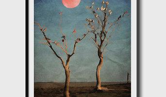 1001 Moons – by Kubistika Poster