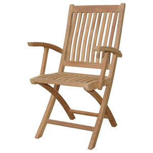 Tropico Folding Armchair (sell u0026 price per 2 chairs only)  sc 1 st  Houzz & Teak Avalon Folding 5-Position Deck Chair - Traditional - Outdoor ...
