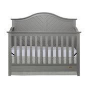 Dream On Me Ella 5 in 1 Convertible Crib, Storm Gray