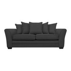 Westbridge Modern 3-Seater Scatter Back Sofa, Stirling Grey