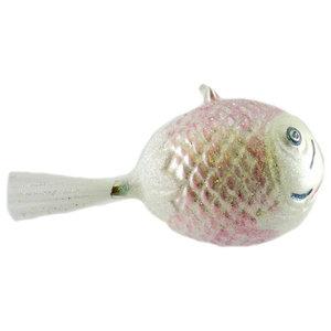 Larry Fraga Puff Fish Blown Glass Ornament Christmas Ocean 80111