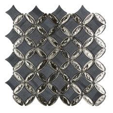 """12""""x12"""" Elyptic Diamond Imagination Mosaic, Set Of 4, Shelburne"""