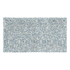 Chenille Cotton Bath Mat, Blue, 65x130 cm