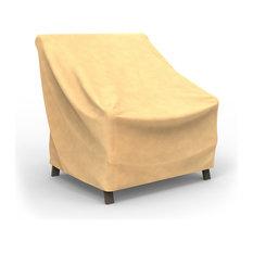 "Budge All-Seasons Medium Outdoor Chair Cover, 36""x36""x36"", Tan"