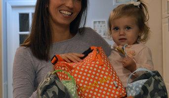 Easy Baby Portable Diaper Bag Organizer Inserts in Polka Dot (Set of 4)