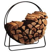"""Round Circular 40"""" Steel Hoop Firewood Log Storage Rack"""