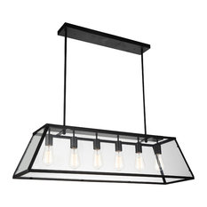 6-Light Chandelier with Black Finish