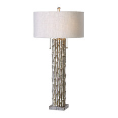 Uttermost Bamboo Table Lamp, Silver