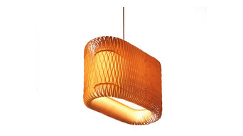 Hand made birch wood pendant lamp - colony