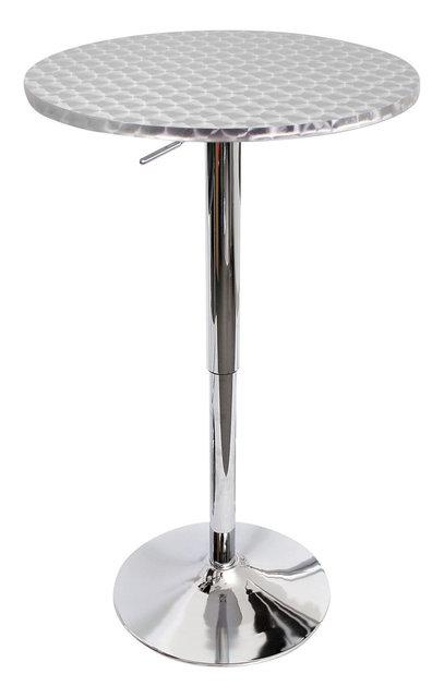 Bistro bar table round silver swirl contemporary indoor pub and bistro bar table round silver swirl watchthetrailerfo