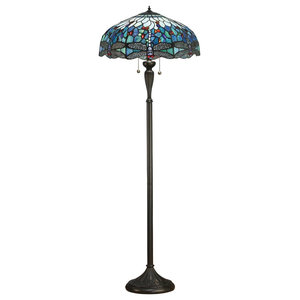 Dragonfly 60 W Floor Lamp, Blue