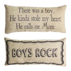 Boys Rock Son Boys Quote Gifts Double Sided Pillow