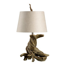 WILDWOOD HOME OLMSTED Table Lamp 1-Light Oak Cast Composite 3-Way