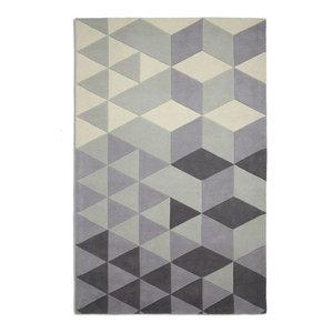 Cluster Rectangular Funky Rug, Light Grey, 120x170 cm
