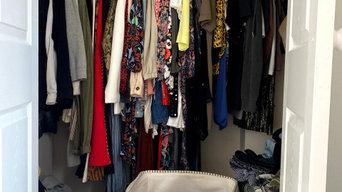 Wardrobe Organising Before & After
