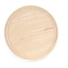 BigWood Boards Round Maple Monogram Cheese Board, P
