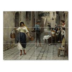 """Eugen de Blaas Women Painting Ceramic Tile Mural #68, 17""""x12.75"""""""