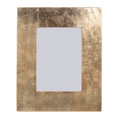 "5"" x 7"" Photo Frame, Gold Finish With Leaf Design"
