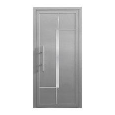 """Orion Aluminum Door, 40""""x81"""", Silver Gray"""