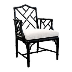 jonathan adler chippendale arm chair black armchairs and accent chairs