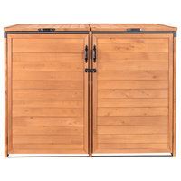 Large Horizontal Trash and Recycling Storage Shed