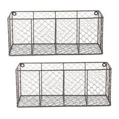 DII Wall Mount Chicken Wire Basket, Set of 2 Med