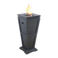 LP Gas Outdoor Fireplace, Medium