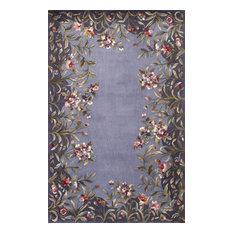 "Emerald 9006 Lavender Garden Rug, 5'3""x8'3"""
