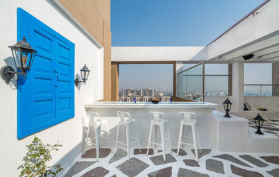 Pune Houzz: Escape to Santorini in This Island-Style Holiday Home