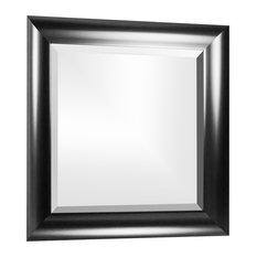 Leighton Black Beveled Vanity Wall Mirror