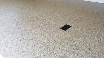 Vinyl chip polyaspartic floors