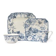 Adelaide 16-Piece Dinnerware Set, Blue