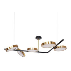 """Pitor 68"""" Dimmable Geometric Chandelier"""