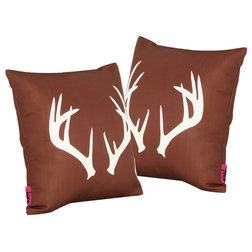 Rustic Outdoor Cushions And Pillows by GDFStudio