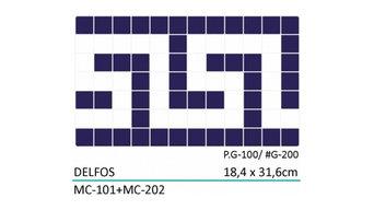 Swimming Pool Mosaic Tiles - Delfos Border - Direct Tile Warehouse