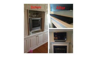 Fireplace TV and Soundbar 1