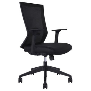 5525aed7f41 Ideal Grey Rolling Office Chair - Contemporary - Office Chairs - by ...